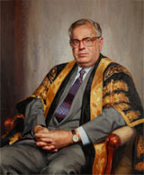 Portrait of Emeritus Professor Cliff Blake, AO, by Reg Campbell