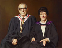 Portrait of Jack McDonogh and his wife Dr Colleen McDonogh